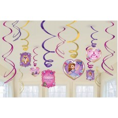 Sofia The First Hanging Decorations Swirls Pack of 12