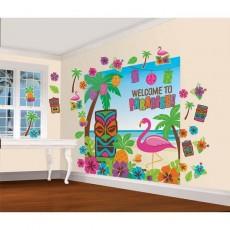 Hawaiian Summer Luau Welcome To Paradise Decorating Kits 32 Items