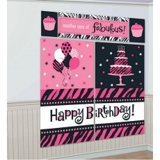 Fabulous Birthday Scene Setters Pack of 5 Another Year of Fabulous Kit
