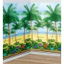 Hawaiian Party Decorations Palm Tree Room Roll Scene Setters