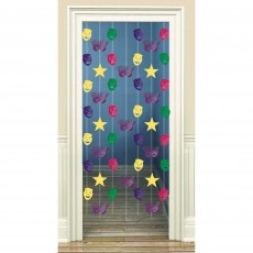 Mardi Gras Door Decorations 198cm Danglers Doorway