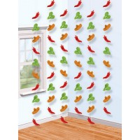 Caliente Hanging Decorations 2.1m Pack of 6