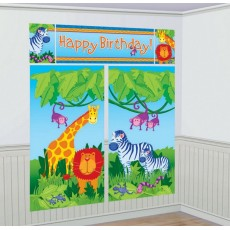 Jungle Animals Happy Birthday! Scene Setters Pack of 5