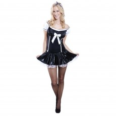 Black French Maid Adult Costume Small Adult Size