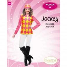 Horse Racing Ladies Top & Hat Adult Costume Medium