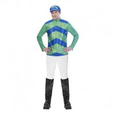 Horse Racing Melbourne Cup Carnival Men's Top & Hat Adult Costume Large