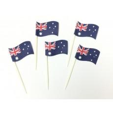 Australia Day Cake Picks 6cm Pack of 24
