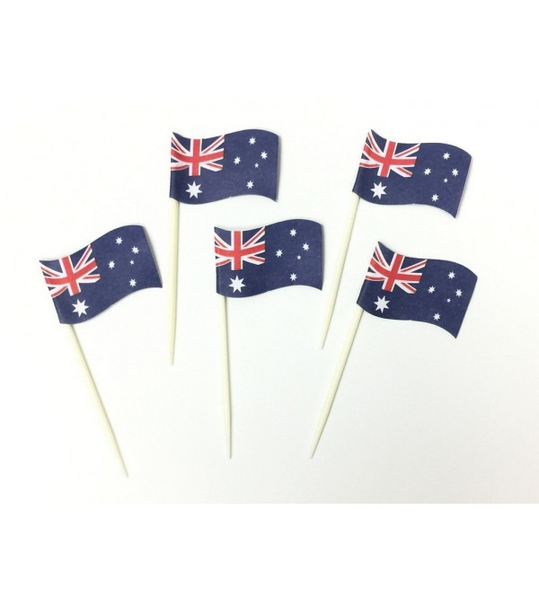 Australia Day Australian Flag Party Picks 6cm Pack of 24