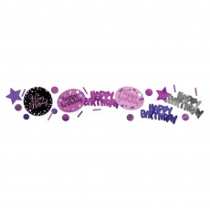 Happy Birthday Confetti 34g Pink, Purple & Black Single Pack