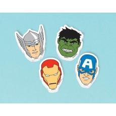 Assorted Colours Avengers Assemble Mini Erasers Favours 4cm x 3cm Pack of 12