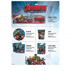 Avengers Age of Ultron Party Packs For 8 Guests Pack of 40