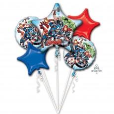 Avengers Bouquet Foil Balloons Pack of 5