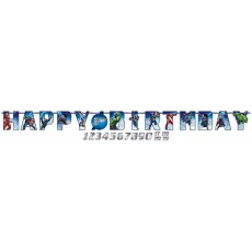 Avengers Epic Jumbo Add an Age Letter Happy Birthday Banner 3.2m x 25cm