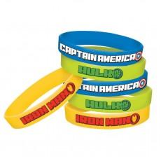 Avengers Epic Rubber Bracelets Favours Pack of 8