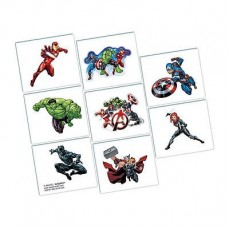 Avengers Epic Tattoos Favours 5cm x 4cm Pack of 8