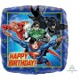 Justice League Foil Balloons 45cm Happy Birthday!