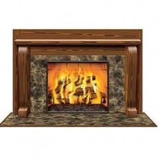 Christmas Fireplace Backdrop Scene Setter 96cm x 1.57m