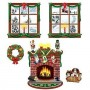 Christmas Cutouts 38cm - 124cm Indoor Christmas Pack of 5