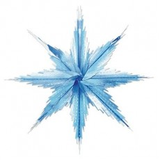 Blue & Silver Christmas 3D Snowflakes Hanging Decoration 29cm