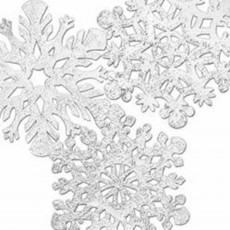 Christmas Party Decorations - Cutouts Snowflakes Silver Foil