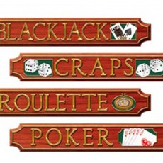 Casino Night Cutouts 10cm x 60cm Pack of 4