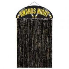 Black & Gold Hollywood Awards Night Curtain Door Decoration 91cm x 137cm