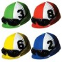 Assorted Colours Horse Racing Jockey Helmet Cutouts 35cm Pack of 4