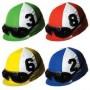 Assorted Colours Horse Racing Jockey Helmet Cutouts 35cm Pack of 4