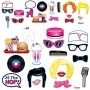 Rock n Roll 50's Photo Booth Photo Props 9cm to 26cm Pack of 17