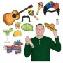 Mexican Fiesta Photo Booth Fun Signs Photo Props 7cm to 45cm Pack of 13