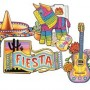 Mexican Fiesta Cardboard Cutouts 38cm to 48cm Pack of 4