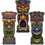 Assorted Colours Hawaiian Tiki Cutout 55cm x 26cm
