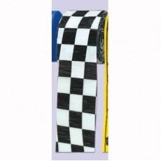 Check Crepe Streamers 6cm x 9m Black & White