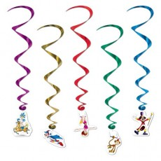 Big Top Hanging Decorations 87cm Pack of 5
