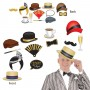 Great 1920's Photo Booth Fun Signs Photo Props 16cm to 28cm Pack of 12