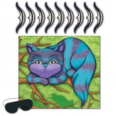 Happy Birthday Alice in Wonderland Pin the Smile on the Cheshire Cat Party Game