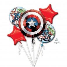 Bouquet Avengers Shield Foil Balloons Pack of 5