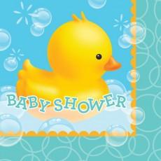 Bubble Bath Lunch Napkins 33cm x 33cm Baby Shower Pack of 16