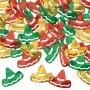 Red, Green & Gold Mexican Fiesta Sombrero Confetti 28g