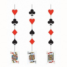 Casino Night Hanging Decorations Pack of 3