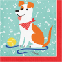 Dog Party Lunch Napkins Pack of 16