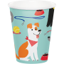 Dog Party Paper Cups 266ml Pack of 8