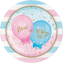 Round Gender Reveal Dinner Plates 22cm Pack of 8
