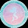 Round Mermaid Shine Iridescent Dinner Plates 22cm Pack of 8