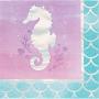 Mermaid Shine Iridescent Beverage Napkins Pack of 16