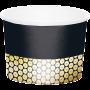 Black & Gold Foil Decor Treat Paper Cups 9cm x 6cm Pack of 6