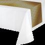 Black & Gold Foil Decor Table Runner 35cm x 2.13m