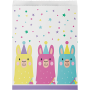 Llama Fun Party Treat Paper Favour Bags 22cm x 16cm Pack of 10