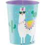 Llama Fun Party Construction Keepsake Souvenir Favour Plastic Cup 473ml