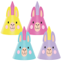 Llama Fun Party Party Hats Pack of 8